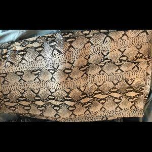 "Pants - Leather python pants - Ladies size 10 - 32""X 32"""
